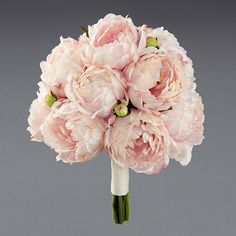 Dream flowers! I would have a mix of white and yellow Peonies instead. Peonies are a very romantic flower and they are dramatic.. Perfect :)
