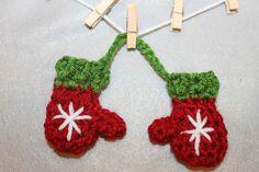 Crochet Mini Mitten Set - Tutorial ❥ 4U // hf