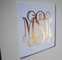 Custom Gold Foil Monogram Wall Art Print by ColorMeUncommon
