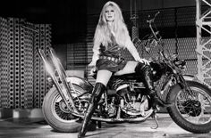 Brigette Bardot on a Harley Flathead Chopper KILLSCUMSPEEDCULT.COM tags; 1960's, fashion, psychedelic, classic, rock, n, roll, lsd, marijuana, custom, motorcycle, clothing, hippie, fillmore, poster, graphic, art, tattoo, flash, art, sheet, summer, of, love, hot, tee, tank, top, retro, gear, ironhead, panhead, shovelhead, knucklehead