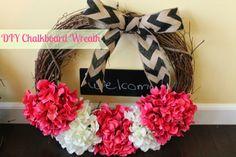 The Suburban Mrs.: DIY Chalkboard Wreath
