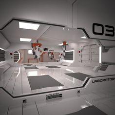 Sci-Fi Spacecraft Interior - Pics about space