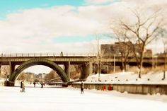Skating On The Rideau Canal, Ottawa Photography, Large Wall Art, White, Blue…