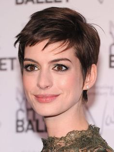 The Best Celeb Hairstyles For Every Length: Short: Anne Hathaway