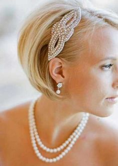 15 Best Short Bob Wedding Hairstyles | http://www.short-hairstyles.co/15-best-short-bob-wedding-hairstyles.html