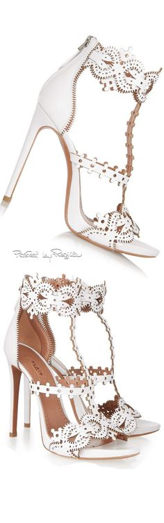 White Stilettos to go with a little white dress...