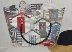 Red Shack Beach Bag with Metal and Black leather by StylishLiving1, $85.00