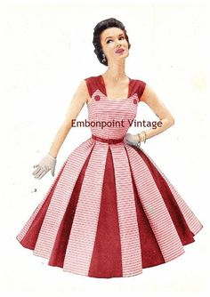 Plus Size (or any size) Vintage 1949 Dress Sewing Pattern - PDF - Pattern No 3 Nora. $11.40, via Etsy.: