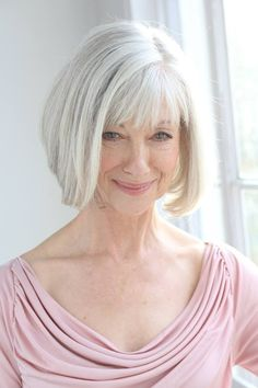 Chin Length Remy Human Hair Capless Straight Old Lady Wigs 10 Inch 7d2b42576