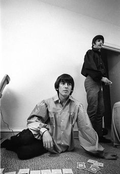 1964 - George Harrison and Ringo Starr.                                                                                                                                                                                 Mais