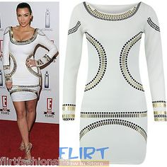 #Womens #GoldFoil #Mini #Dress #Celebrity #KimKardashian #Bodycon #Tunic #Short #Midi