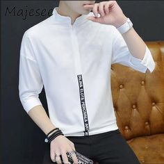 05d876bf2b7 Men Shirts. Long Sleeve ShirtsSlim. Men Shirts Long-sleeved Mens Shirt  Breathable Summer Linen Slim Thin ...