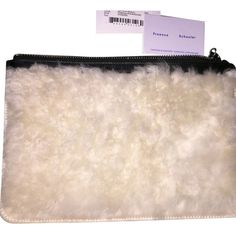 Proenza Schouler Pre-owned Proenza Schouler White/ Black Clutch ($241) ❤ liked on Polyvore featuring bags, handbags, clutches, white handbags, black white purse, black fur handbag, black purse and black handbags