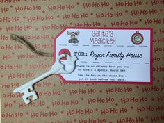 Santa's Magic Key, My Etsy Shop, Store, Handmade Gifts, Kid Craft Gifts, Storage, Handcrafted Gifts, Business, Hand Made Gifts