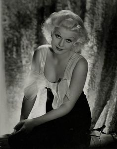 """gmgallery: """"Jean Harlow photographed by George Hurrell (MGM, 1930s) www.stores.eBay.com/GrapefruitMoonGallery """""""