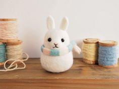 うさぎだるま〈ホワイト〉 - Fatty Rabbit