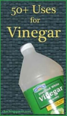 50+ Uses for Vinegar – In the house, office, car, garden, for beauty, health, and pets #vinegar #housecleaning #naturalcleaning