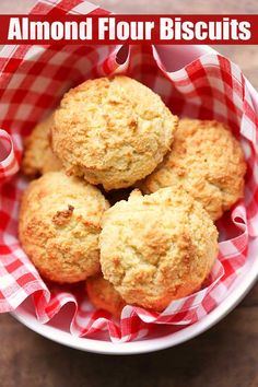Almond flour biscuits are tender, fluffy, and wonderful with sweet butter. They are low carb, gluten free, and ready in just 20 minutes!