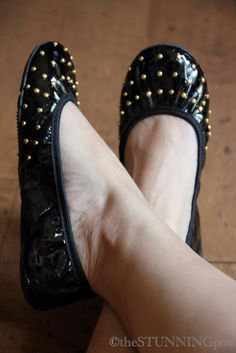 Butterfly Twists - Elizabeth Studded Foldable Flats