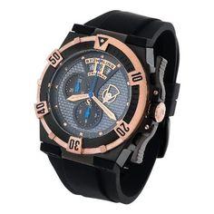 Stuhrling Original Men's 220M.339641 Limited Edition Midnight Falcon Swiss Quartz Chronograph Black Watch - Find Me The Cheapest Sale Price: $149.00