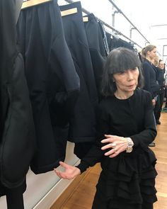 Here is Rei Kawakubo in the Paris show room explaining how she re-interprets the show pieces into actual clothes