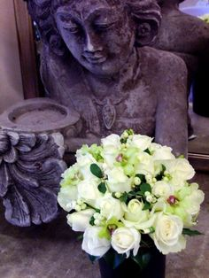 Calypso Flowers - Bride's Posy of Roses and snowberries