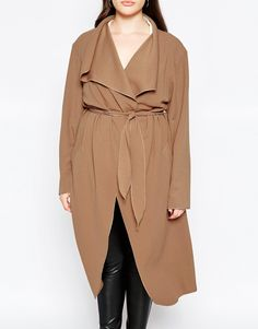 Image 3 ofBoohoo Plus Shawl Collar Coat