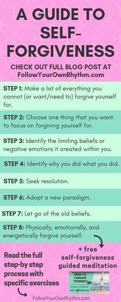 Self Help / Self Improvement / Growth / Self-Help / forgive yourself / forgiving yourself / self-forgiveness Be True To Yourself, Forgiving Yourself, Forgive Yourself Quotes, Monólogo Interior, Free Guided Meditation, Mindfulness Meditation, Mindfulness Exercises, Negative Emotions, Subconscious Mind