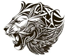 Loads of Zentangle animals for you to draw inspiration from, and then make your own. Including links for animal outlines and zentangle pattern ideas. Tribal Lion Tattoo, Lion Head Tattoos, Mens Lion Tattoo, Body Art Tattoos, Stomach Tattoos, Girl Tattoos, Zentangle, Small Girly Tattoos, Clock Tattoo Design