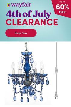 Plug In Chandelier, Vintage Crystal Chandelier, Empire Chandelier, Higher Design, Acrylic Beads, Strands, Baroque, Light Bulb, Beading