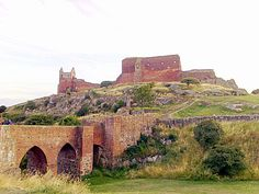 The ruins of Hammershus Castle on Bornholm. Hammershus is Scandinavia's largest medieval fortification.