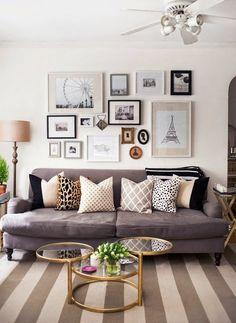 IDEAS PARA DECORAR CON CUADROS / IDOMUM www.idomum.com #living #decorarconcuadros #livingroom #ideasdedecoracion #diseñodeinteriores #interiordesignideas #decoideas #sillones #almohadones #alfombras #sofas #cushion #carpet