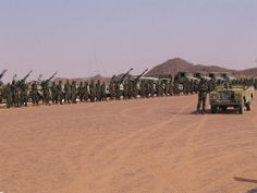 2005 photo of SADR Saharawi troops near Tifariti, freed zone of Western Sahara, awaiting the celebration of the anniversary ot the Polisario Front African States, African Countries, West Africa, North Africa, Sahrawi Arab Democratic Republic, African Union, Lourdes, Western Sahara, Carthage