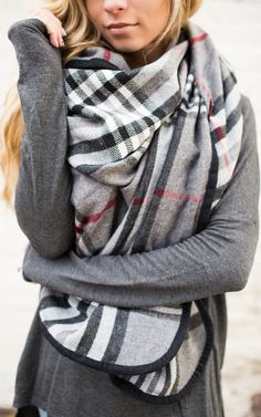 Loving this Plaid Grey Wrap only $20 with code LASTCHANCE