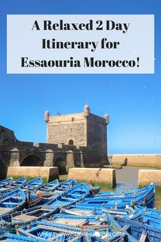 A Relaxed 2 Day Itinerary for Essaouira Morocco! Essaouira is the perfect place to visit for a city break that is a bit different but still very relaxed. Here is how I recommend you spend 2 days in Essaouira Morocco! #Essaouira #Morocco