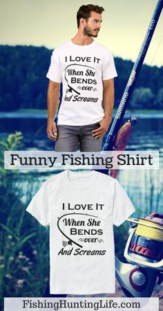 89013d26 Bends over and Screams Funny Fishing Shirt. #fishing #bassfishing  #catfishing #carpfishing