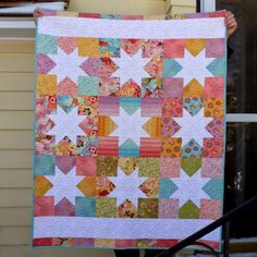 peace.love.quilt: A Baby Star Quilt for Leah – A 2013 Finish