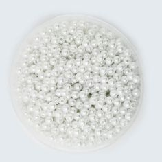 Cabochon Round White Ivoy Pearl Imitation ABS Beads
