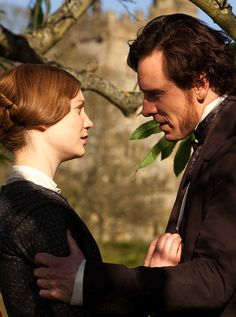 Mia Wasikowska as Jane Eyre and Michael Fassbender as Mr. Rochester inJane Eyre (2011).