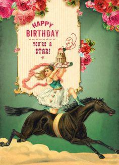 Cartolina - Cartolina card - Happy Birthday You're a Star! CC254
