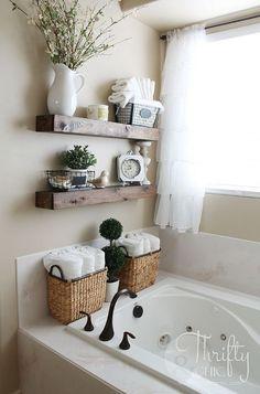 20 Ripiani design e SALVASPAZIO per un piccolo bagno! Ispiratevi