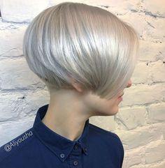 Ice-Blonde-Hair Haircut Styles for Short Hair Short Hair With Layers, Short Hair Cuts, Short Hair Styles, Short Bob Haircuts, Cute Hairstyles For Short Hair, Haircut Bob, Layered Haircuts, Undercut Hairstyles, Pixie Hairstyles