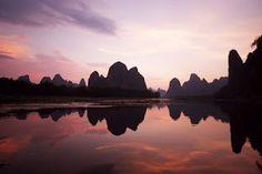 Karstic Peaks at Guilin - Li river  China