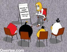 funny anger management images | Angry Birds Anger Management Cartoon Illustrator, cartoonist
