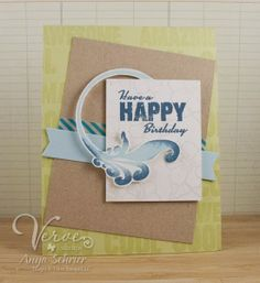 By Anya Schrier using the Happy Days set from Verve Stamps. #vervestamps