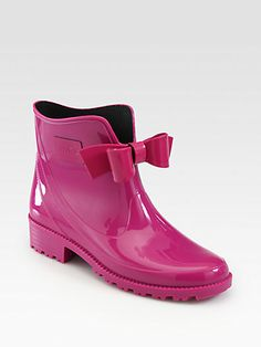 RED Valentino - Bow Rain Boots - Saks.com