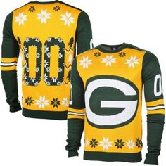 Here is a colorful and fun Green Bay Packers crazy Christmas Sweater for real fans of the team. They are perfect for Christmas gifts!