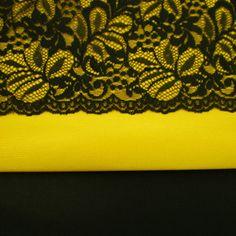 Trio Yellow, Black and Black Rigid Lace