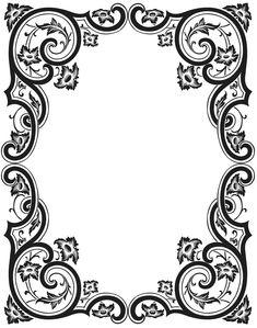 Antique frame engraving vector image on VectorStock Vector Shapes, Vector Art, Frame Border Design, Stencils, Pop Art Wallpaper, Leather Carving, Antique Frames, Borders And Frames, Ornaments Design