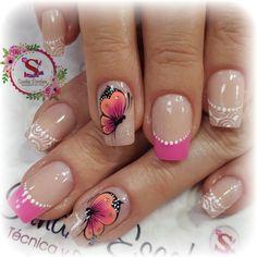 Butterfly Nail, Different Textures, Love Nails, Pedicure, Hair And Nails, Nail Designs, Nail Art, Beauty, San